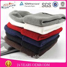 cheap plain beanies/thick knit beanie/oversized knit beanie