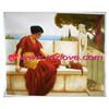 classic lady oil painting portrait
