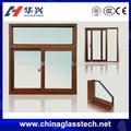 Ruptura térmica transferência de madeira anodização/revestimento em pó de janelas francesas tamanhos