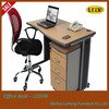 simple hot sale office desk/wooden table/desk with steel desk