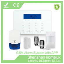 gsm pstn dual network home security alarm system