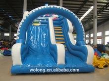 Snow white slide inflatable slide, OEM factory inflatable slide