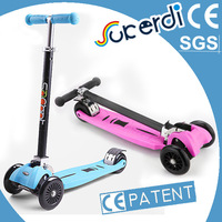 Royal quality iscooter manufacturer kids 4 wheels foldable roller scooter