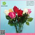 Rosa atacado tecido flor rosa artificial, rosa flor em botão