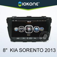 IOKONE 2013 8'' kia sorento car radio with GPS , IPOD , Wifi/3G , SWC , BT