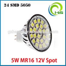 Best price 3W/4W/5W RA80 CE ROHS 21SMD/24SMD/27SMD 5050/2835/ 5730 SMD spotlights aluminium led pcb 24smd 5050 led mr16 12v