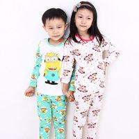HFR-S14090210 New design hot sale autumn-winter cotton thermal cartoon kids pajamas