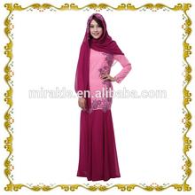 Mf23600 musulman robe de soirée abaya pour les femmes