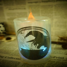 2014 hot sale china manufacturers 6 inch flameless plastic led flameless witch halloween accessory fake candle