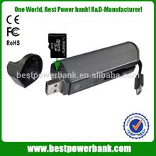 HC-i30 Micro sd card reader power bank,christmas gift cellphone power bank,2200mah flashlight power bank