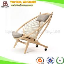 Replica hans wegner chair wood circle chair with head pillow (SP-EC707)