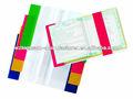 Claro matizado pvc plástico capadelivro para o caderno da escola, a4 proteção aba coloridas capas de livros