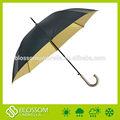 dos color de la tela de doble capa del metro paraguas de golf