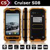 NFC 2+5MP 512MB+4GB dual sim android 3000mah Cruiser S08 walkie talkie rugged phone