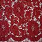 Buy Fashion Corded Pretty Red Flower Elegant Bridal Lace Fabric Online
