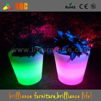 Lighted colorful flower pots,decorative plant pots,illuminated plastic flower pot/vase