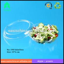 PET disposable square plastic salad food packaging/ disposable plastic salad mix food packaging