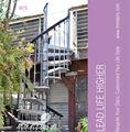 la mansión de metal utilizado al aire libre diseño de escalera