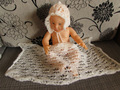 Recém-nascido wrap e definir o chapéu infantil crochet baby bonnet fotografia prop