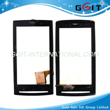 cheap price replacement touch screen for sony x10 with frame digitizer mobile phone repair parts black