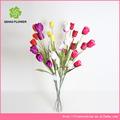 5 cabeças de flor artificial mini tulip decoração flor tulipa artificial