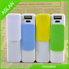 Colorful Fashion Mini Keying dusting micro usb power Bank 2600mAh