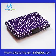 Women Waterproof Metal Business Card Holder Aluminum Card Case