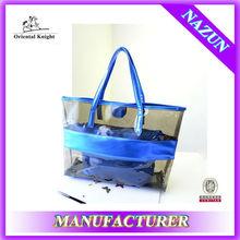 wholesale lucency custom logo plastic handbag in summer