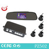 PZ502 lcd parking sensor with rear view mirror lcd display smart car parking sensor system with one year warranty CE FCC