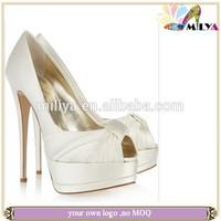 2014 brand fashion satin Bridal wedding shoes lady high safe platform pumps wholesale women high heel shoes