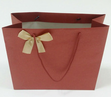 Custom drawstring red gift paper handbag