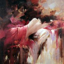 Nude Girl Female Art of Sleeping Beauty Canvas Print