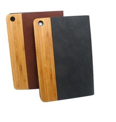 wooden leather case For Ipad 5