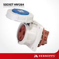 Hennepps IP67 3 pin 63 amp enchufe industrial y zócalo del enchufe