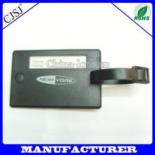 travel blank id card hard plastic luggage tag strap