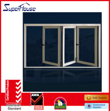 Fashionable AS2047 sliding folding window with ten years warranty