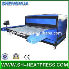 Automatic pneumatic double station sublimation heat transfer large format textile sublimation heat transfer