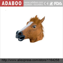 Hot Sale Creepy Halloween Costume Theater Prop Latex Rubber Novelty Horse Head Mask Z