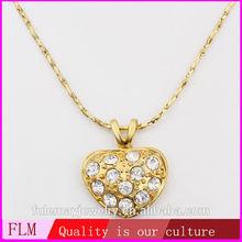 Friendship cheap women 18k gold plated custom logo necklaces FPN596