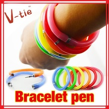 Novelty wristband pen flexible colorful bracelet Pen sell in cheap price