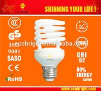 HOT! T2 Half spiral Energy Saving Light Bulb 20W 10000H CE QUALITY
