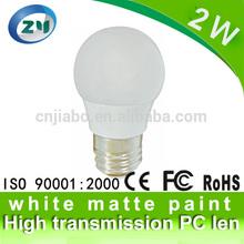 2015 Cheap cost 2W e27 led globe bulb with 220 degre beam angle
