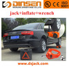 battery operated car jack with inflate pump impact wrench