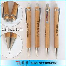 bambooo material high quality laser logo printing pen