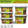 VacTainer vacuum sealed plastic food storage container
