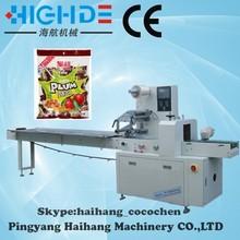 industrial wholesale lollipop sugar candy flow packaging machine