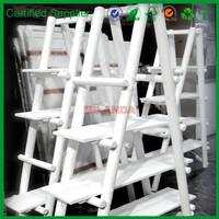 white decorative bamboo ladder