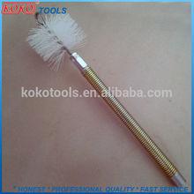 screw type nylon wire chimney brush with long handle