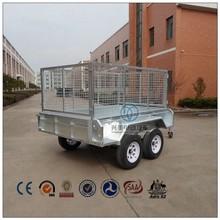 sidewall tie rail used dual axle trailer 8*5ft