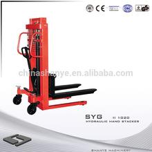 Use C steel 1 ton hydraulic hand stacker